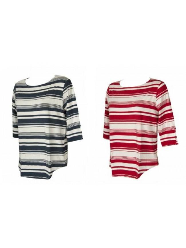 Maglia donna manica 3/4  t-shirt maglietta viscosa girocollo RAGNO articolo 7126