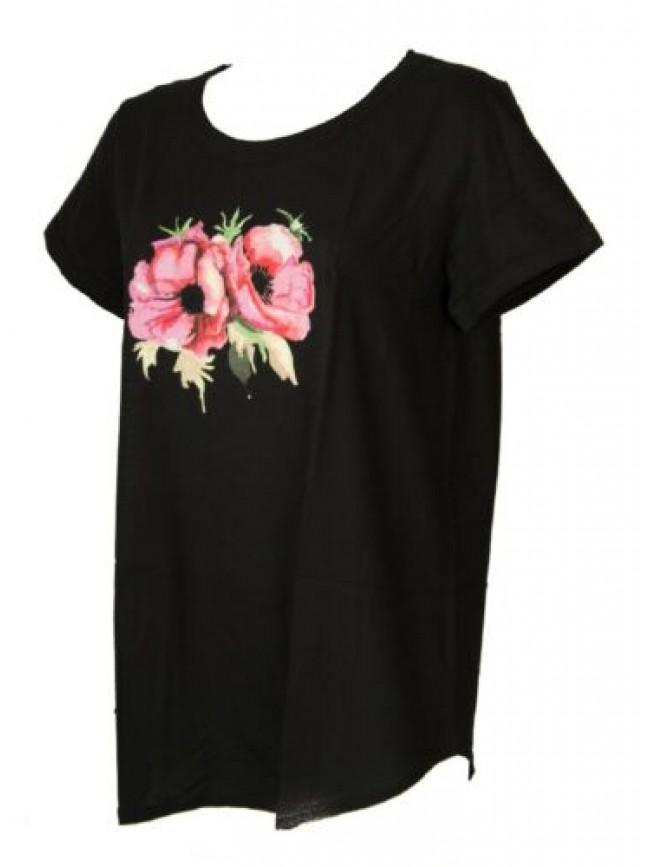 Maglia donna manica corta t-shirt maglietta cotone girocollo RAGNO articolo 7122