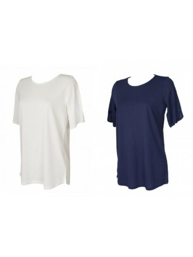 Maglia donna manica corta t-shirt maglietta viscosa girocollo RAGNO articolo 712