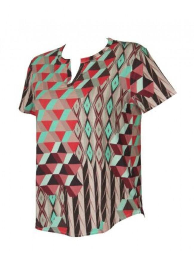 Maglia donna manica corta t-shirt maglietta viscosa girocollo RAGNO articolo 713
