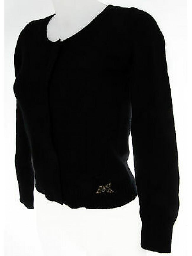 Maglia giacca cardigan donna GUESS a.UC0D31 KNT01 T.XS c.996 nero black