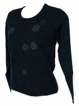 Maglia girocollo bolle donna sweater RISMEL art. G37-32 taglia L col. BLUETTE