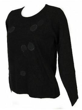 Maglia girocollo bolle donna sweater RISMEL art. G37-32 taglia M col. ANTRACITE