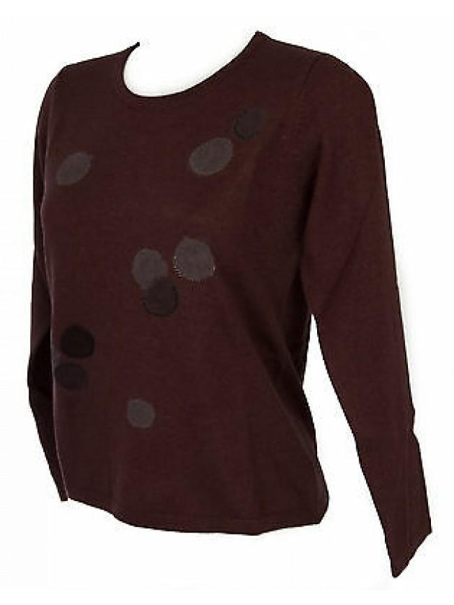 Maglia girocollo bolle donna sweater RISMEL art. G37-32 taglia M col. CIPOLLA