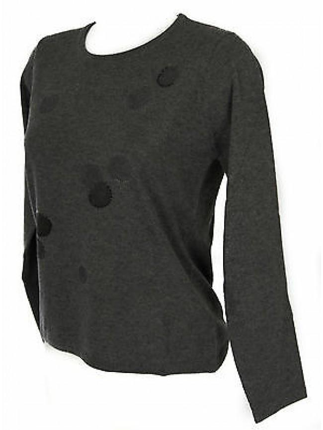 Maglia girocollo bolle donna sweater RISMEL art. G37-32 taglia M col. GRIGIO