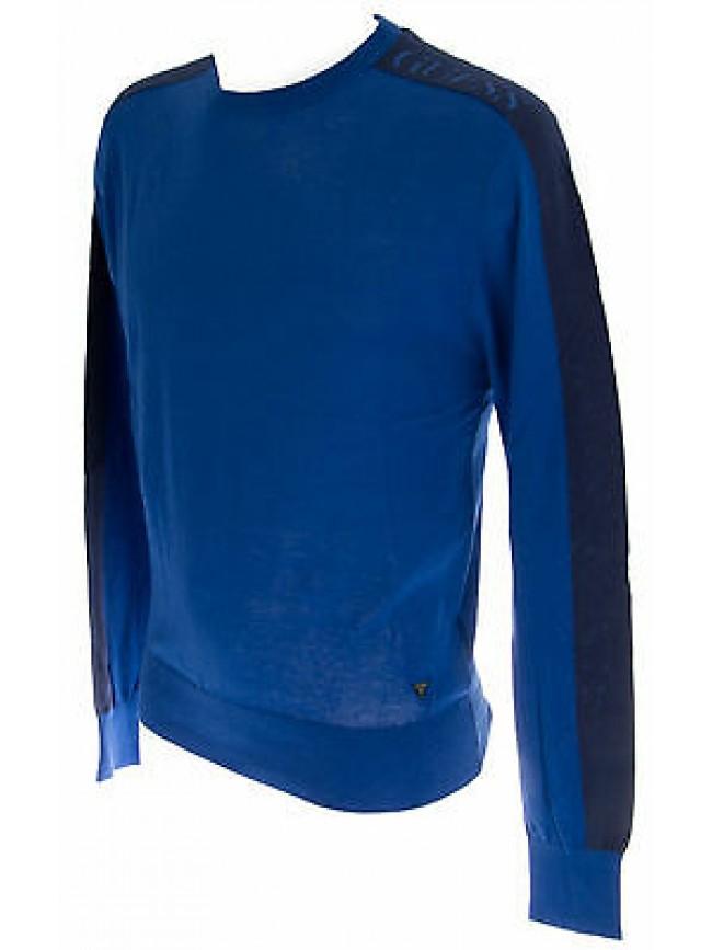 Maglia girocollo cotone uomo GUESS a.M51R04 T.XL col.B790 DISPLAY BLUE