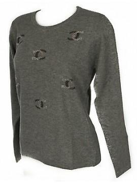 Maglia girocollo donna sweater RISMEL art. G37-61 taglia L colore GRIGIO
