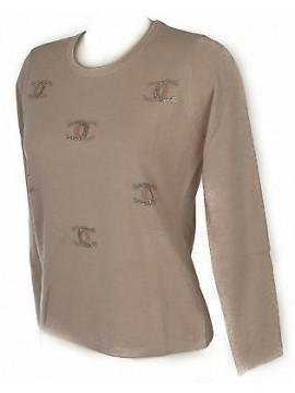 Maglia girocollo donna sweater RISMEL art. G37-61 taglia M colore CIPRIA