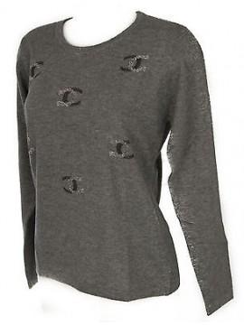 Maglia girocollo donna sweater RISMEL art. G37-61 taglia M colore GRIGIO