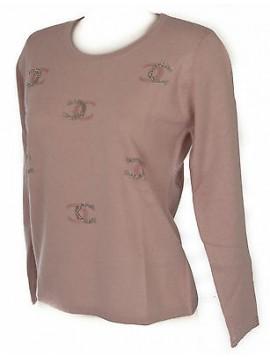 Maglia girocollo donna sweater RISMEL art. G37-61 taglia M colore ROSA