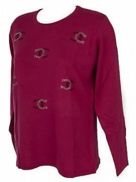 Maglia girocollo donna sweater RISMEL art. G37-61 taglia XXL colore FUXIA