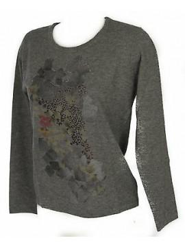 Maglia girocollo donna sweater RISMEL art. G37-62 taglia M colore GRIGIO GREY
