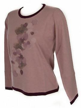 Maglia girocollo donna sweater RISMEL art. G37B-6 taglia M colore ROSA PINK