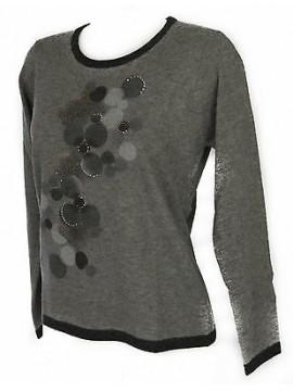 Maglia girocollo donna sweater RISMEL art. G37B-6 taglia XL colore GRIGIO GREY