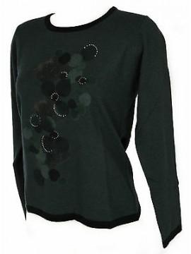 Maglia girocollo donna sweater RISMEL art. G37B-6 taglia XL colore VERDE GREEN