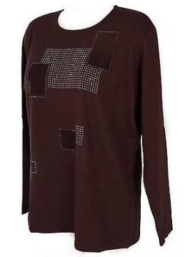 Maglia girocollo quadri donna sweater RISMEL art. AN34-11 taglia M col. CIPOLLA