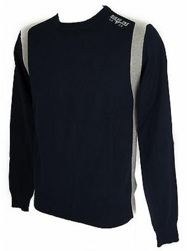 Maglia girocollo uomo sweater GUESS a.M52R05 taglia XXL col.G720 BLUE NAVY