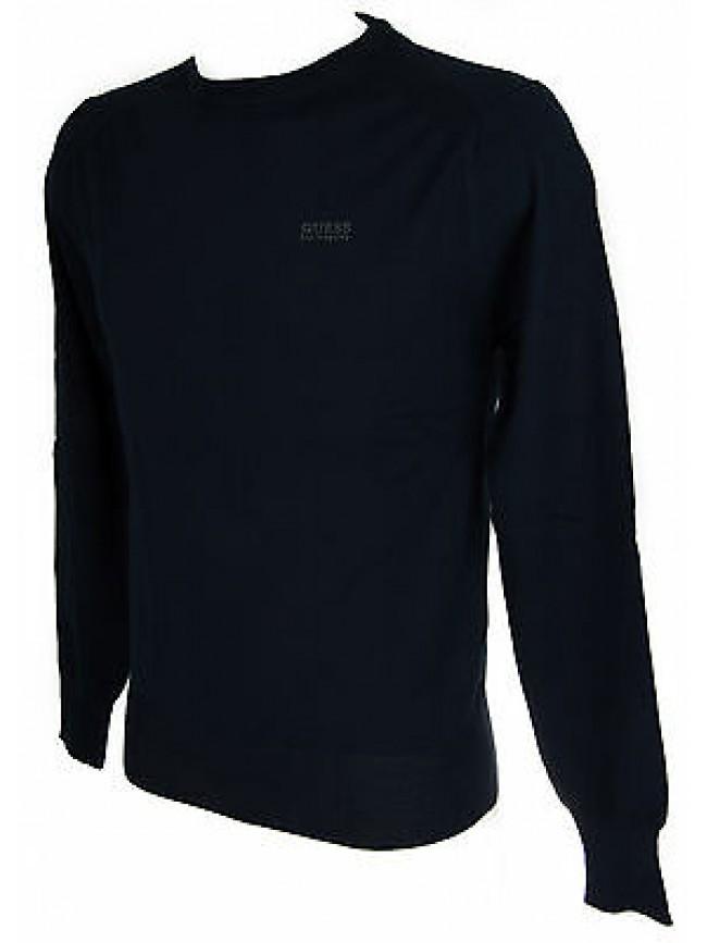 Maglia girocollo uomo sweater GUESS a.M53R00 taglia S col.G720 BLUE NAVY