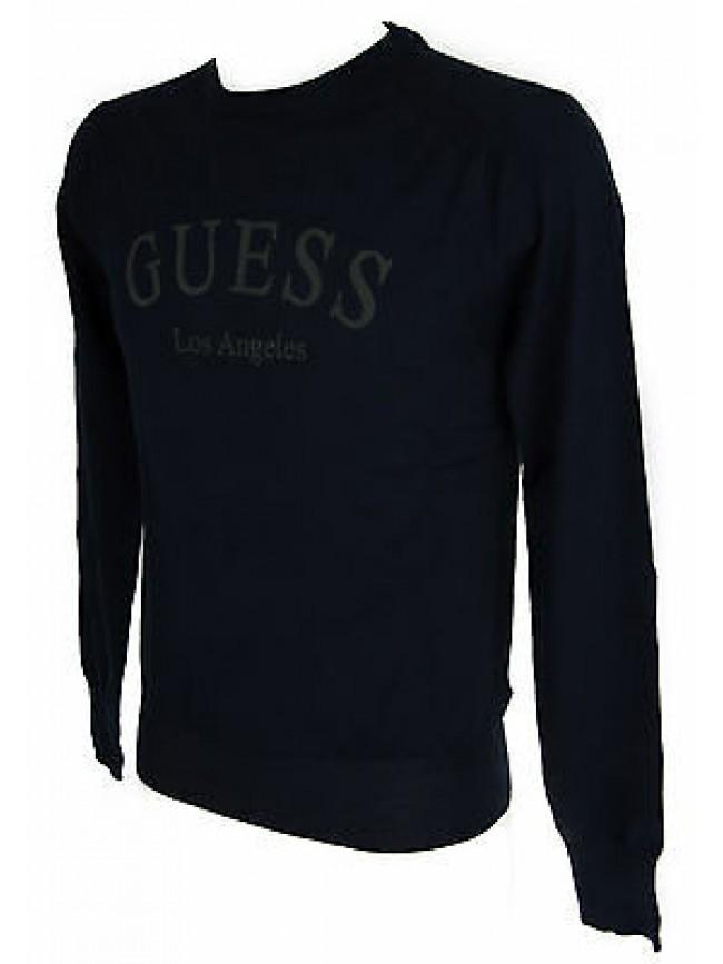 Maglia girocollo uomo sweater GUESS a.M53R04 taglia XL col.G720 BLUE NAVY