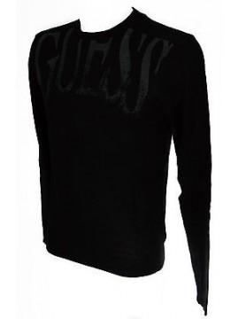 Maglia girocollo uomo sweater GUESS art.M53R42 taglia M colore 996 NERO BLACK