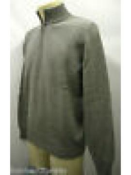 Maglia maglione serafino uomo zip sweater man FERRANTE G30302 T.50 035 grigio