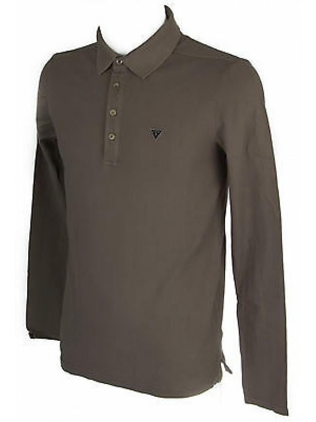 Maglia polo t-shirt uomo GUESS a.M44P02 taglia S colore B941 PLUME GREY