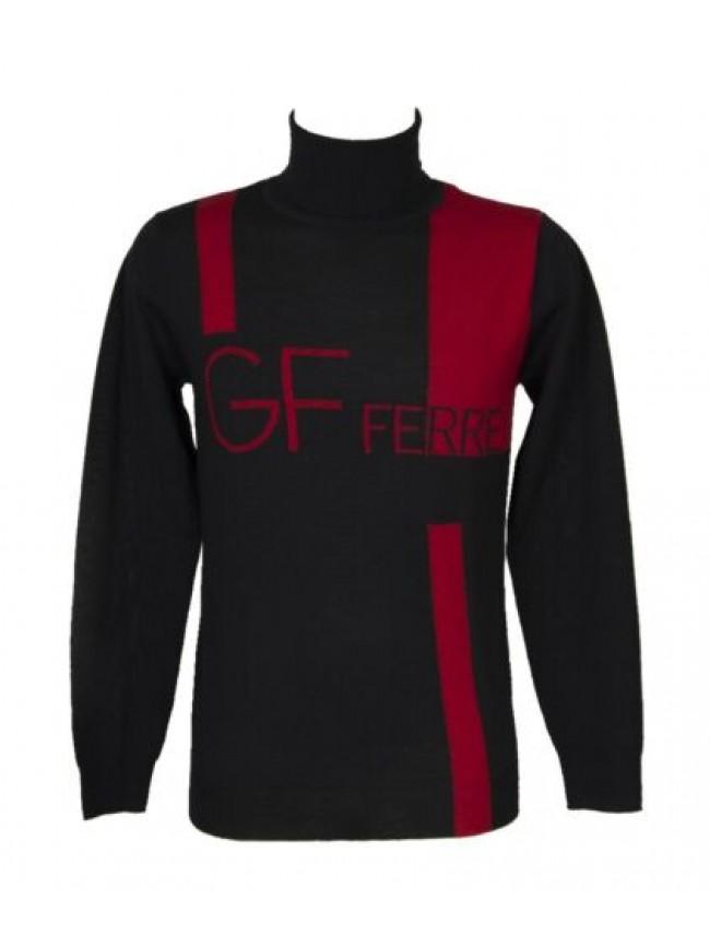 Maglia pullover uomo dolcevita manica lunga pura lana GF FERRE' articolo 5F2831