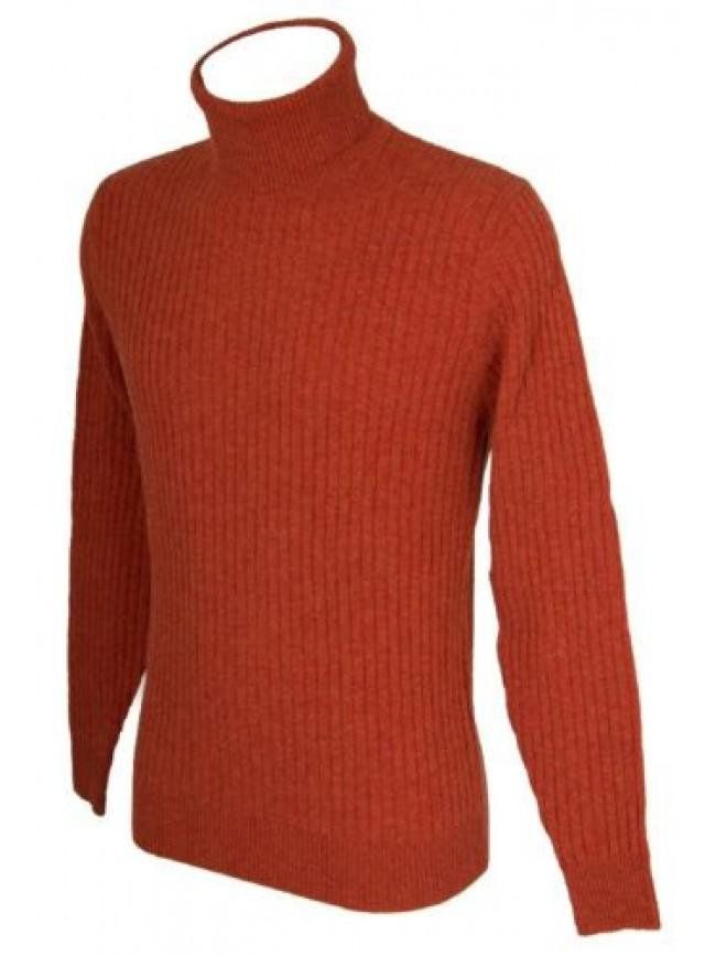 Maglia pullover uomo lana manica lunga collo alto RAGNO articolo A23404