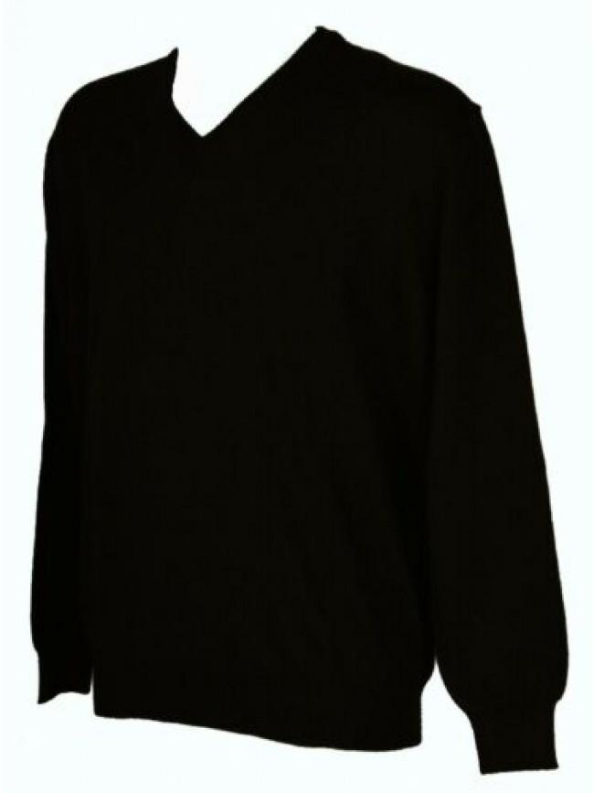 Maglia pullover uomo lana merino extrafine scollo V manica lunga RAGNO SPORT art