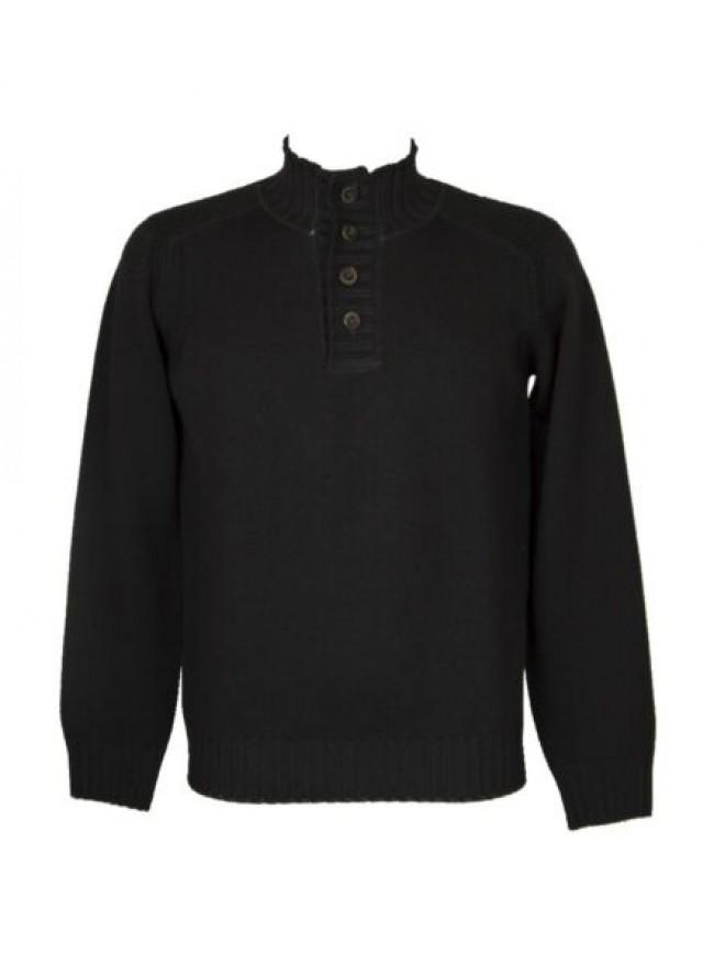 Maglia pullover uomo manica lunga collo serafino pura lana merino extrafine FERR