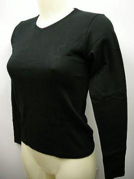 Maglia scollo V t-shirt donna woman RAGNO a.07452A T.2/XS c.020 nero black