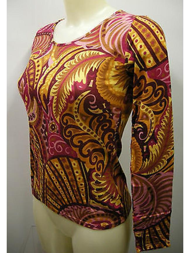 Maglia t-shirt donna girocollo RAGNO a.07199 T.2/XS col.294FK fant trop