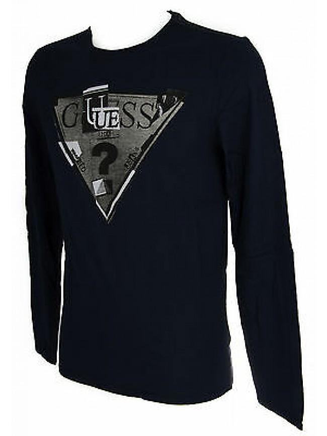 Maglia t-shirt girocollo uomo GUESS a.M44I19 taglia XS col.G720 BLUE NAVY