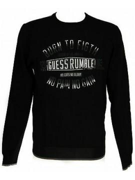 Maglia t-shirt girocollo uomo GUESS a.M51R01 taglia XS c.996 NERO BLACK