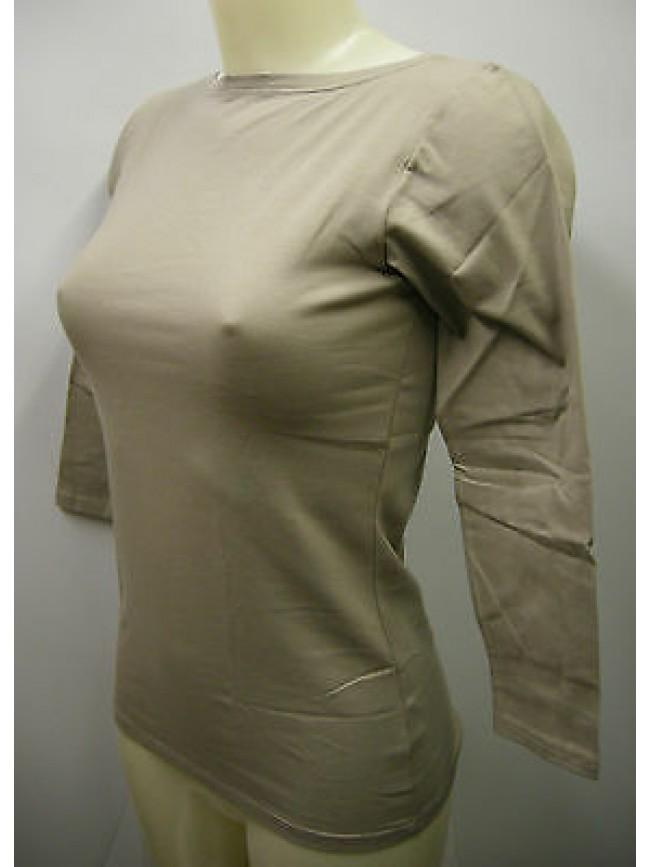 Maglia t-shirt manica 3/4 donna sweater woman RAGNO a.07855B T. 2/XS 448K silice