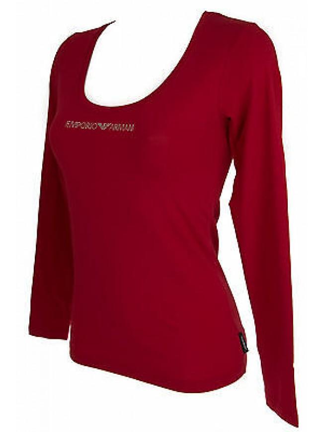 Maglia t-shirt scollo U donna EMPORIO ARMANI 163378 5A263 T.S 17874 CHILI