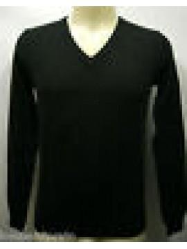 Maglia uomo scollo V sweater man GF FERRE a.5F2850 T.M c.900 nero black Italy