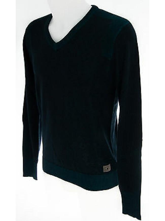 Maglia uomo scollo V sweater man GUESS art.M43R79 T.S col.D775 navy