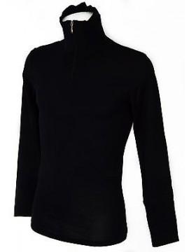 Maglia zip lana seta uomo RAGNO SPORT WSK art. 60159K taglia XL/6 col. 078 BLEU