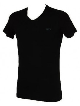 Maglietta t-shirt V uomo DATCH a. IU0003 taglia XS / 44 col. D101 NERO BLACK