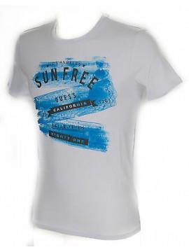 Maglietta t-shirt girocollo uomo GUESS a. M61I44 taglia XL c. A009 WHITE BIANCO