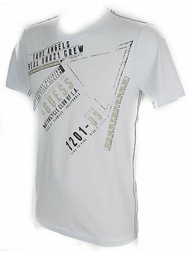 Maglietta t-shirt girocollo uomo GUESS a.M52I08 taglia XL colore 009 BIANCO