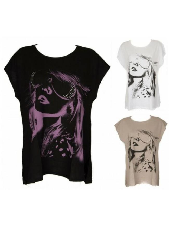 Maxi t-shirt donna cotone manica corta RAGNO articolo 702617