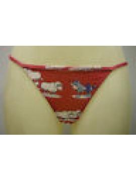 PERIZOMA TANGA DONNA ARIMO BRIEF WOMAN ART.12ARD UN01 T.M COL.0500 ROSSO RED