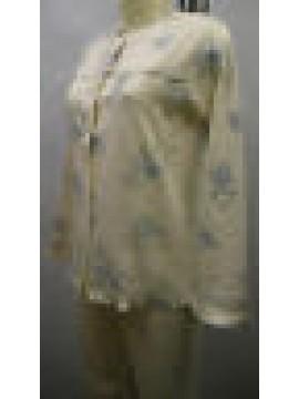 PIGIAMA APERTO DONNA COTONE INTERLOCK PAJAMAS RAGNO ART.N76832 T.54 COL.674F E