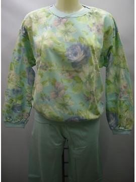 PIGIAMA DONNA COTONE INTERLOCK PAJAMAS RAGNO ART.N70869 T.46 COL.FIORI FLOWERS