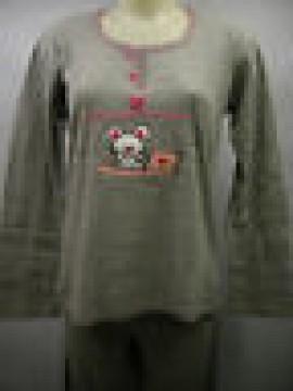 PIGIAMA DONNA COTONE INTERLOCK PAJAMAS RAGNO ART.N76891 T.46 C.135M GRIGIO MOUSE