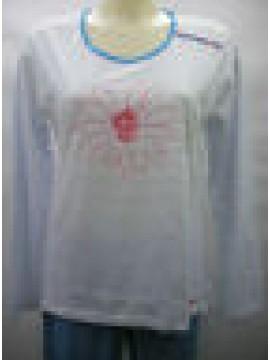PIGIAMA DONNA PAJAMAS WOMAN RAGNO ART.N70381 T.3/S COL.207F FANTASIA SMALTO