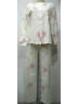PIGIAMA DONNA RAGNO COTONE INTERLOCK ART.N78662 T.50 COL.127F FANTASIA ROSA