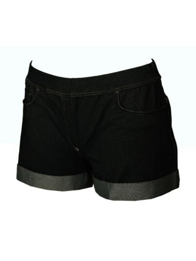 Pantalone corto jeans elasticizzato pantaloncini shorts donna RAGNO articolo 702